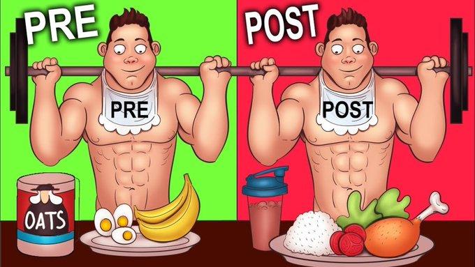 ماذا تتناول الطعام قبل وبعد التمرين