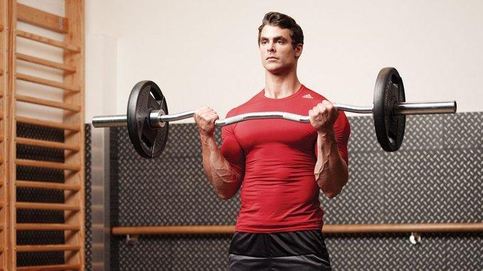كيف تلعب بار زجزاج عضلة الباي