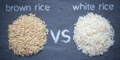 ما الفرق بين الأرز الابيض والبني وما الافضل للتخسيس والصحة